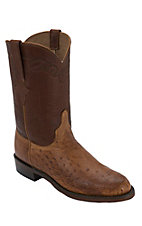 Lucchese® 1883™ Men's Barnwood Tan Smooth Ostrich Exotic Roper Boots