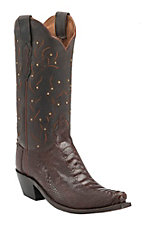 Lucchese 1883 Women's Sienna Burnished Ostrich Leg Snip Toe Western Boots
