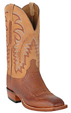 Lucchese® Cowboy Collection™ Men's Brown Smooth Ostrich Exotic Square Toe Boots