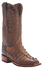 Lucchese Cowboy Collection Men's Natural Burnish Hornback Exotic Square Toe Boot