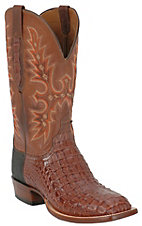 Lucchese Cowboy Collection Men's Cigar Hornback Exotic Square Toe Boots