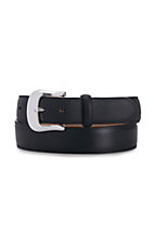Tony Lama® Black Longhorn Belt  With Billets