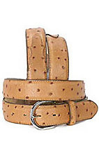 Silver Creek® Peanut Brittle Ostrich Print Belt- Sizes: 48