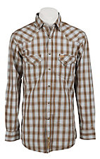 Larry Mahan Mens L/S Western Plaid Snap Shirt LM1210801