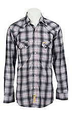 Larry Mahan Mens L/S Western Plaid Snap Shirt LM124025
