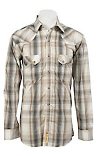 Larry Mahan Mens L/S Western Plaid Snap Shirt LM1240207