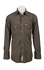 Larry Mahan Mens L/S Western Plaid Snap Shirt LM1240703