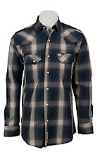 Larry Mahan Mens L/S Western Plaid Snap Shirt LM1240716