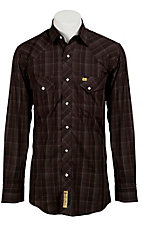 Larry Mahan Mens L/S Western Plaid Snap Shirt LM1240718