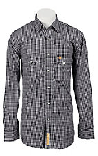 Larry Mahan Mens L/S Western Plaid Snap Shirt LM1240719