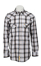 Larry Mahan Mens L/S Western Plaid Snap Shirt LM1240722