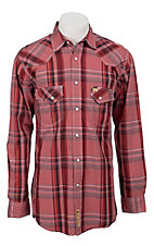Larry Mahan Mens L/S Western Plaid Snap Shirt LM1241104