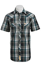 Larry Mahan Mens S/S Western Snap Shirt LM1410715CS