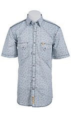 Larry Mahan Mens S/S Western Snap Shirt LM1410717C