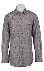 Larry Mahan Mens L/S Western Snap Shirt LM1410729