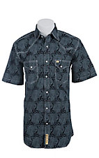 Larry Mahan Mens S/S Western Snap Shirt LM1411117