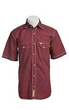 Larry Mahan Mens S/S Western Snap Shirt LM1421408