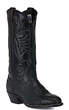 Larry Mahan Men's Black U-Toe Bullhide Western Boots