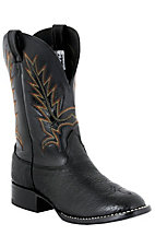 Larry Mahan Men's Black Bullhide Stockman Boots