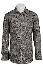Larry Mahan Mens L/S Western Paisley Snap Shirt LMX1310202 - Big & Tall