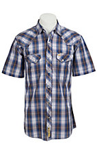Larry Mahan Mens S/S Western Snap Shirt LMX1310704NS - Big and Tall