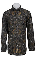 Larry Mahan Mens L/S Western Snap Shirt LMX1340705