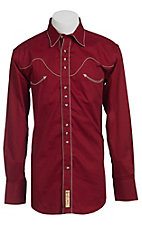 Larry Mahan® L/S Red & Khaki Retro Western Shirt LMX7770402