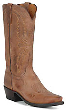 Lucchese 1883 Men' Tan Brown Mad Dog Snip Toe Western Boots
