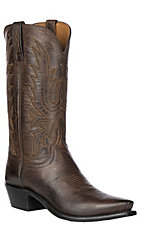 Lucchese® 1883™ Mens Chocolate Brown Mad Dog Snip Toe Western Boots