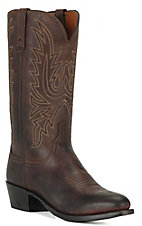 Lucchese® 1883™ Men's Chocolate Brown Mad Dog R-Toe Western Boots