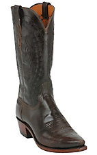 Lucchese 1883 Men's Teak Buffalo Calf Snip Toe Western Boot