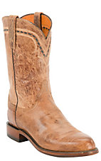 Lucchese® 2000™ Men's Tan Burnished Mad Dog Leather Roper Boots