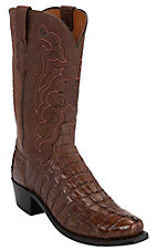 Lucchese® 1883™ Men's Cigar Hornback Tail 7-Toe Narrow Punchy Toe Exotic Western Boots