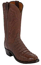 Lucchese® 1883™ Men's Cigar Hornback Tail Exotic Traditional Toe Western Boots