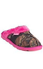 Blazin Roxx Women's Hot Pink Sequins with Camo Slippers