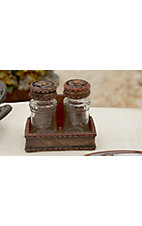 M&F Western Products® God Bless Our Home Kneeling Cowboy Salt and Pepper Shakers