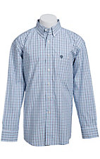 George Strait by Wrangler L/S Mens Plaid Shirt MGS013B