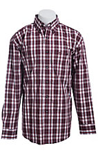 George Strait by Wrangler L/S Mens Check Shirt  MGS018R