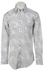 Wrangler® George Strait Troubadour™ Men's Long Sleeve Snap Shirt MGS01WH