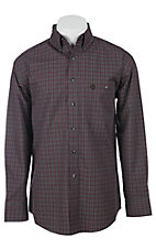 George Strait by Wrangler L/S Mens Plaid Shirt MGS024R
