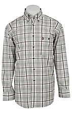 George Strait by Wrangler L/S Mens Plaid Shirt MGS029T