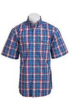 George Strait by Wrangler S/S Mens Plaid Shirt MGS13BMX - Big and Tall
