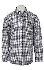 George Strait by Wrangler L/S Mens Plaid Shirt MGS13RM