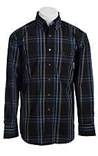 George Strait by Wrangler L/S Mens Plaid Shirt MGS30XM