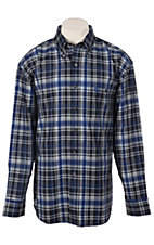 George Strait by Wrangler L/S Mens Plaid Shirt MGS34BM
