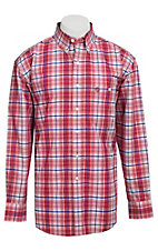 George Strait by Wrangler L/S Mens Plaid Shirt MGS39RM