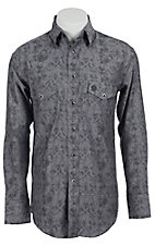 Wrangler George Strait Troubadour Men's Long Sleeve Snap Shirt MGS42GY