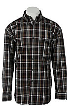 George Strait by Wrangler L/S Mens Plaid Shirt MGS44XM