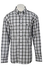 George Strait by Wrangler L/S Mens Plaid Shirt MGS45XM