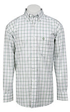 George Strait by Wrangler L/S Mens Plaid Shirt MGS52GMX